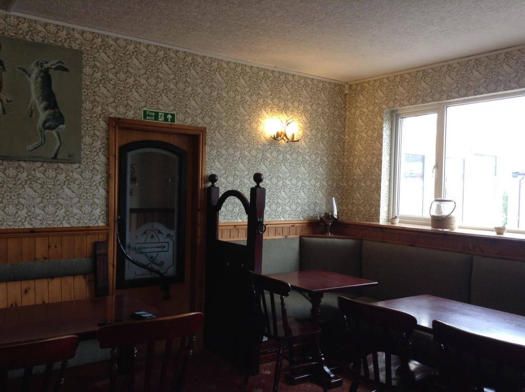 Kinmount hotel refurbished dining room one